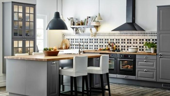 meuble de cuisine avec table intégrée