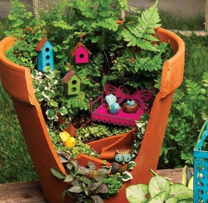 Emejing Deco Jardin Avec Objets De Recup Images - Matkin.info ...