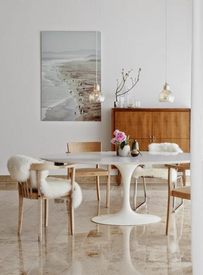 originale table de cuisine ronde