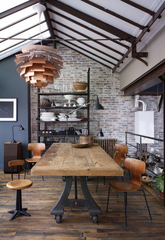 Lamnagement dune salle  manger style industriel en 48 photos  Archzinefr