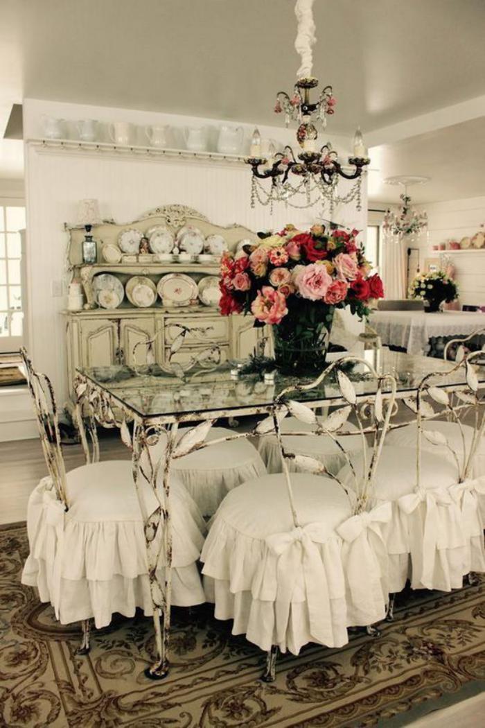 Dco et meubles shabby chic dans la salle  manger  comment crer une atmosphre vintage lgante