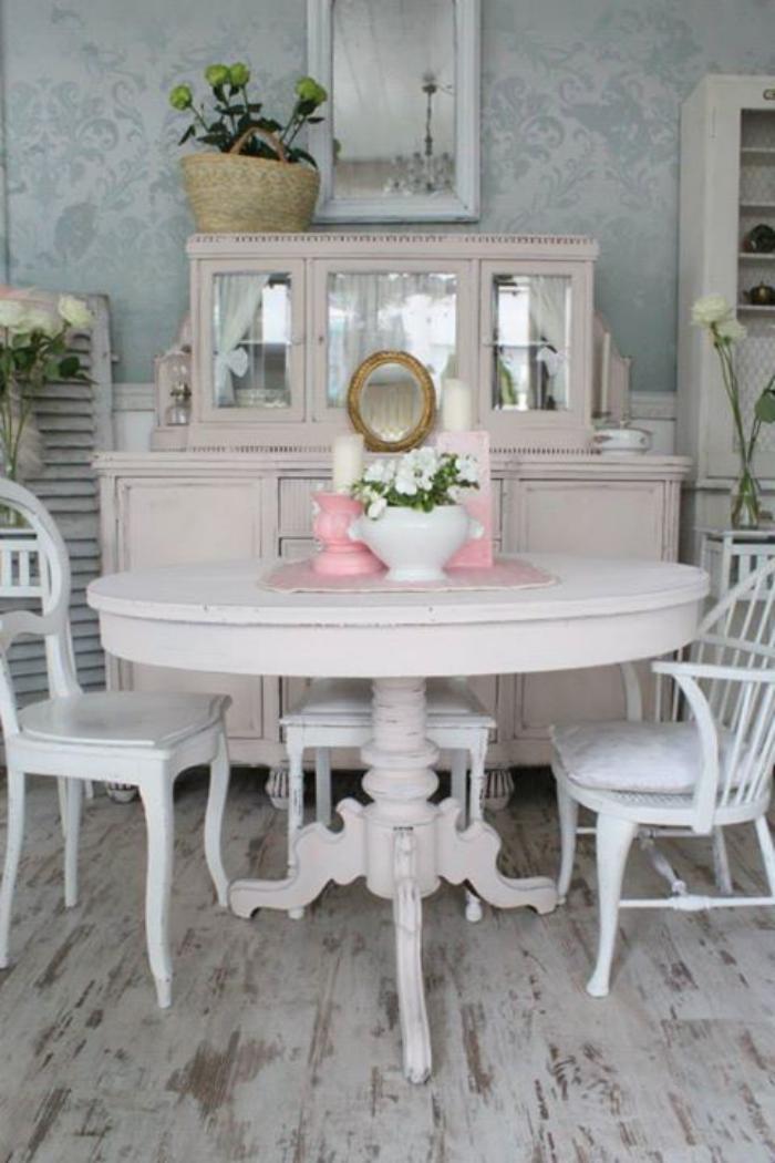 deco et meubles shabby chic dans la salle a manger comment creer une atmosphere vintage elegante