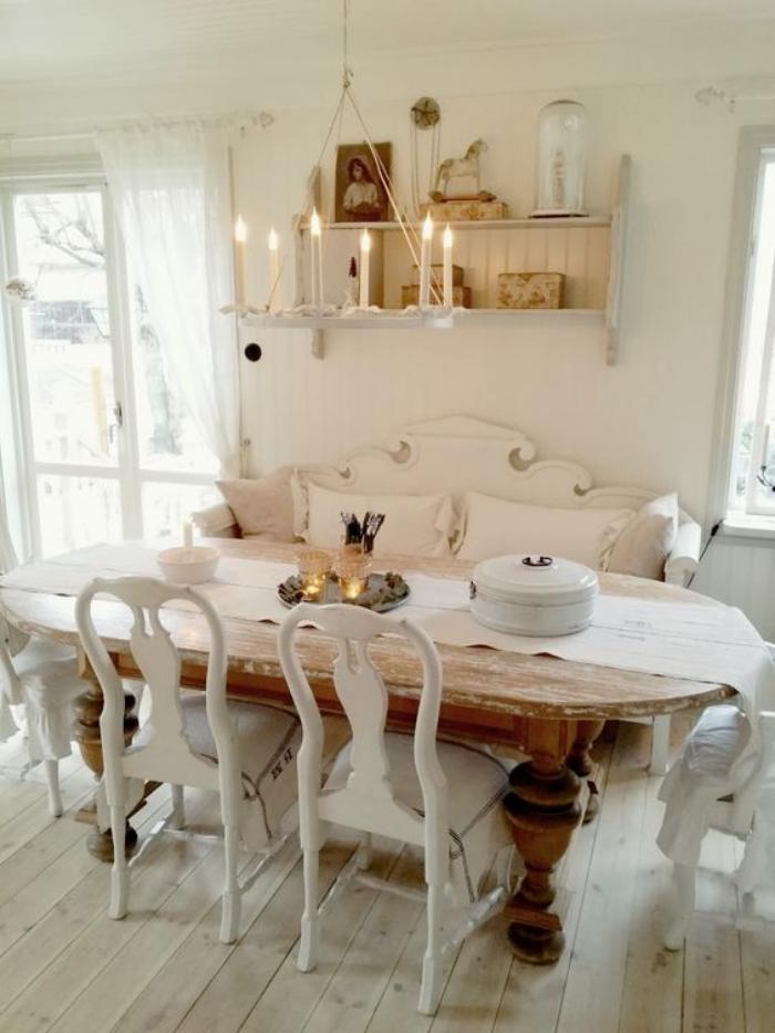 Dco et meubles shabby chic dans la salle  manger