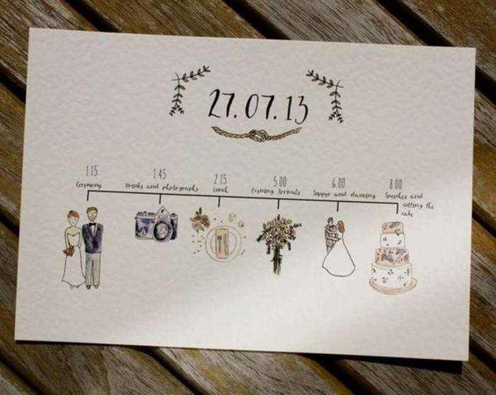 diy faire part de mariage original pour