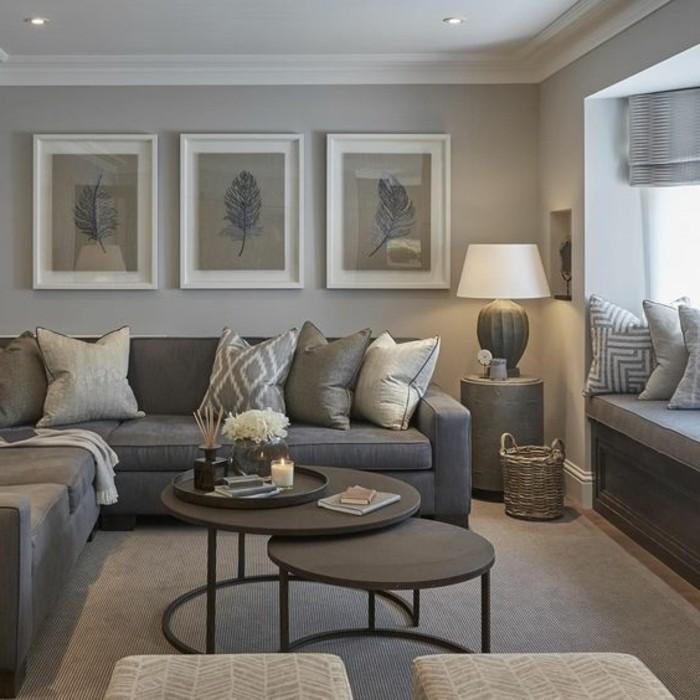 decorative pillows for dark brown sofa recommended upholstery singapore couleur peinture salon - conseils et 90 photos pour vous ...