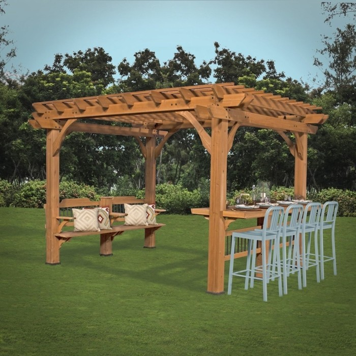 dcorer une pergola en bois fabriquer soi meme sa pergola bois with dcorer une pergola en bois. Black Bedroom Furniture Sets. Home Design Ideas