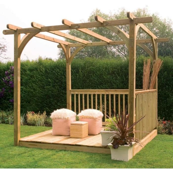 dcorer une pergola en bois fabriquer soi meme sa pergola. Black Bedroom Furniture Sets. Home Design Ideas
