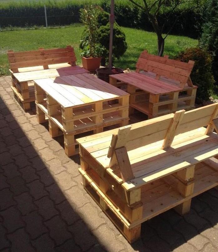 52 ides pour fabriquer votre meuble de jardin en palette