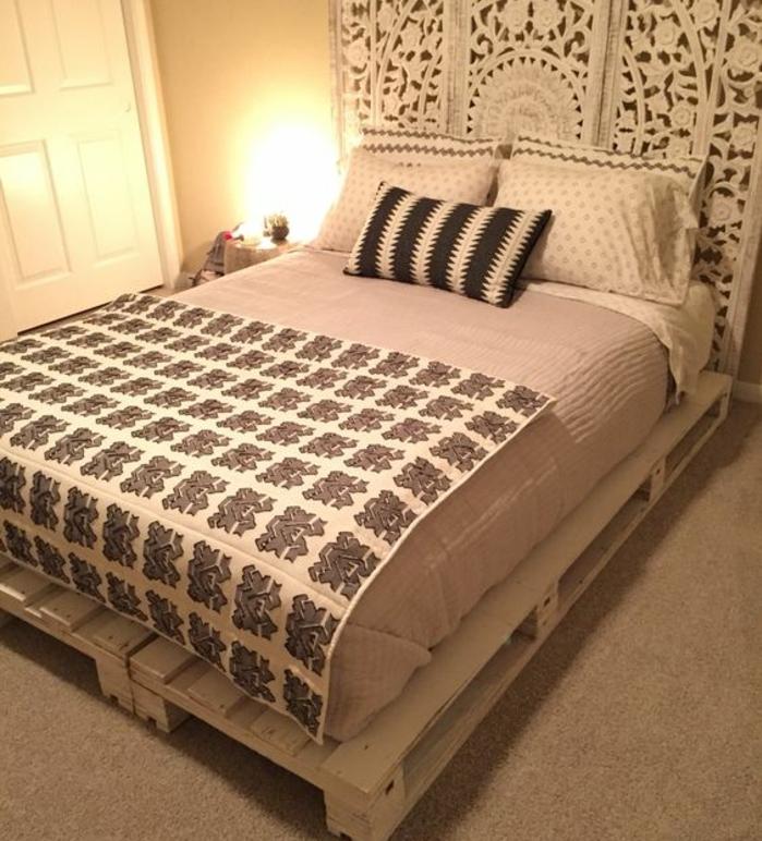 Comment faire un lit en palette  52 ides  ne pas manquer