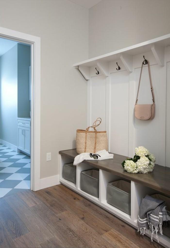 Decoration Couloir Gris Et Blanc D Co Couloir Peinture Et