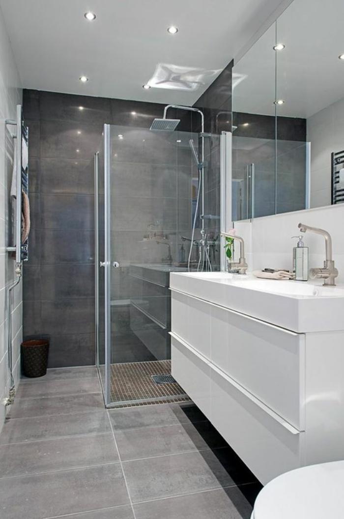 59 salles de bain chic qui vous montrent le beaut du carrelage gris  Archzinefr