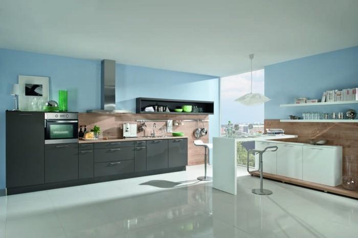 Meuble cuisine gris anthracite cuisine grise plan de for Peinture cuisine gris anthracite