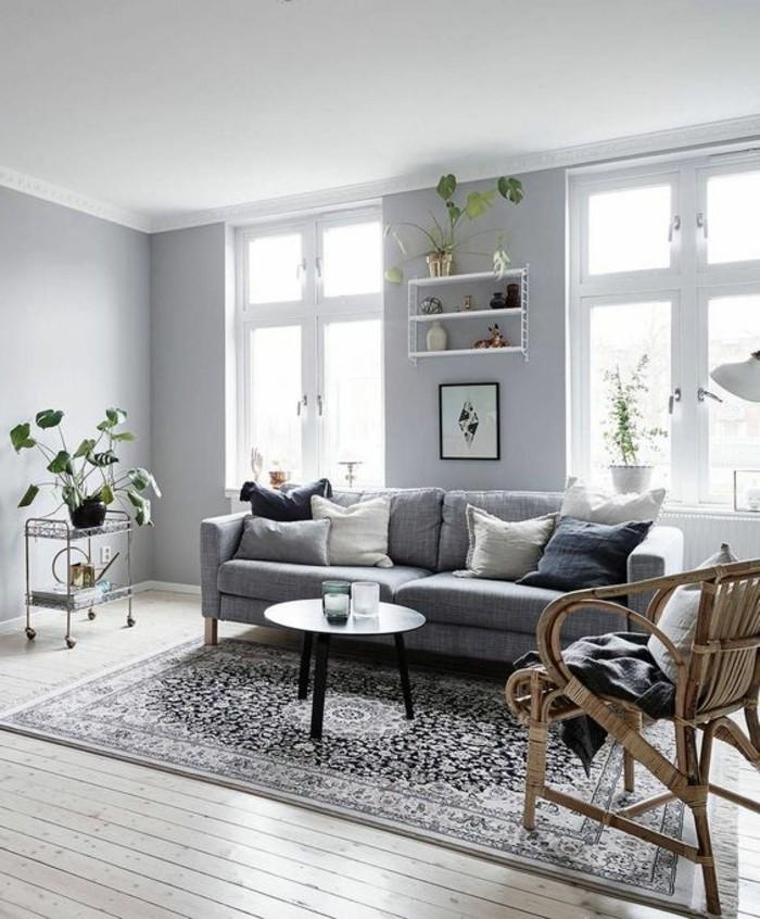 Salon Design Gris Et Blanc