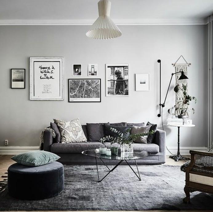 Dco salon gris  88 super ides pleines de charme