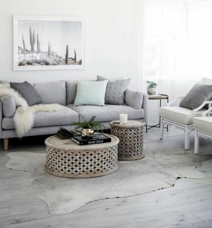 Un salon en gris et blanc cest chic Voil 82 photos qui en tmoignent