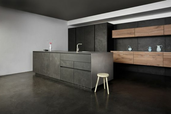 perfect superbe cuisine gris anthracite meuble cuisine gris anthracite with meuble de cuisine. Black Bedroom Furniture Sets. Home Design Ideas