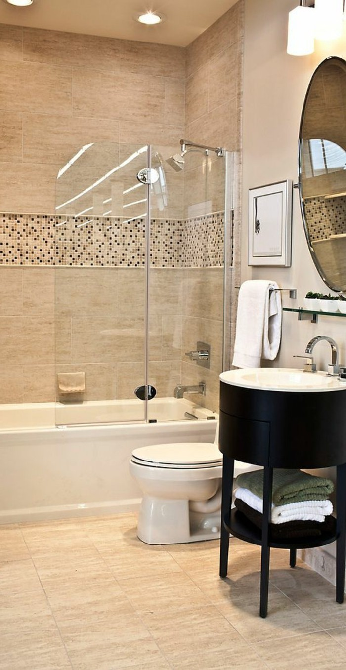 Le carrelage beige pour salle de bain  54 photos de