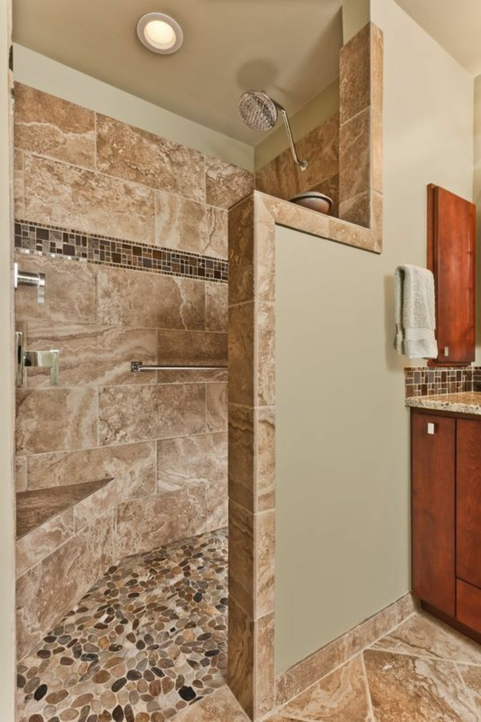 Le carrelage beige pour salle de bain  54 photos de salles de bain beiges  Archzinefr