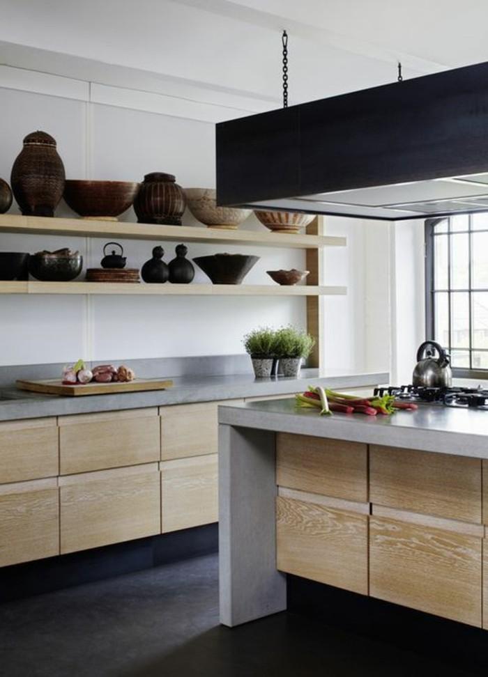cuisine équipée noir et blanc