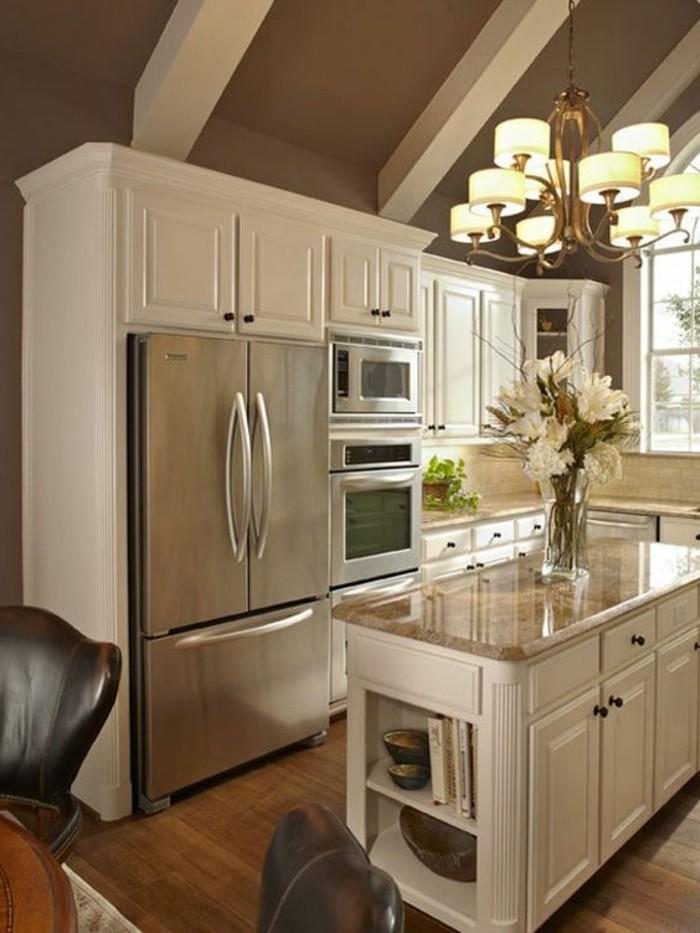 photo de cuisine ouverte avec ilot central