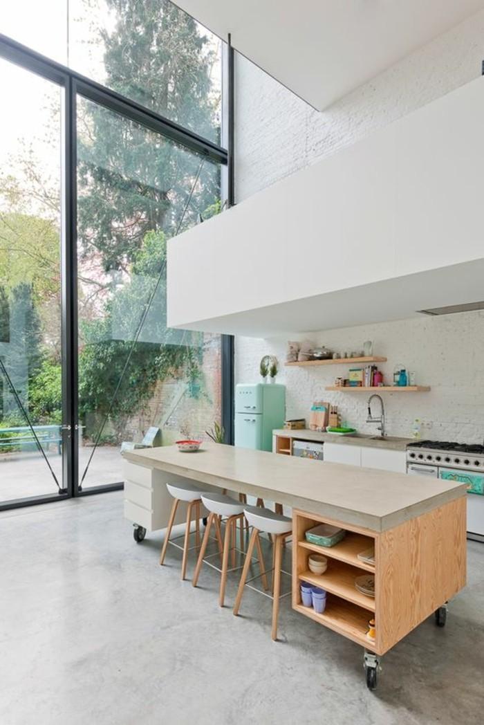 La cuisine quipe avec lot central  66 ides en photos  Archzinefr