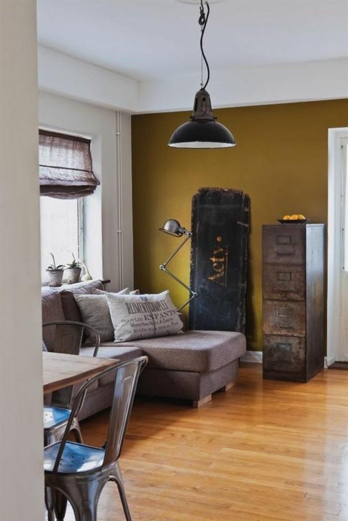 La couleur jaune moutarde  nouvelle tendance dans lintrieur maison