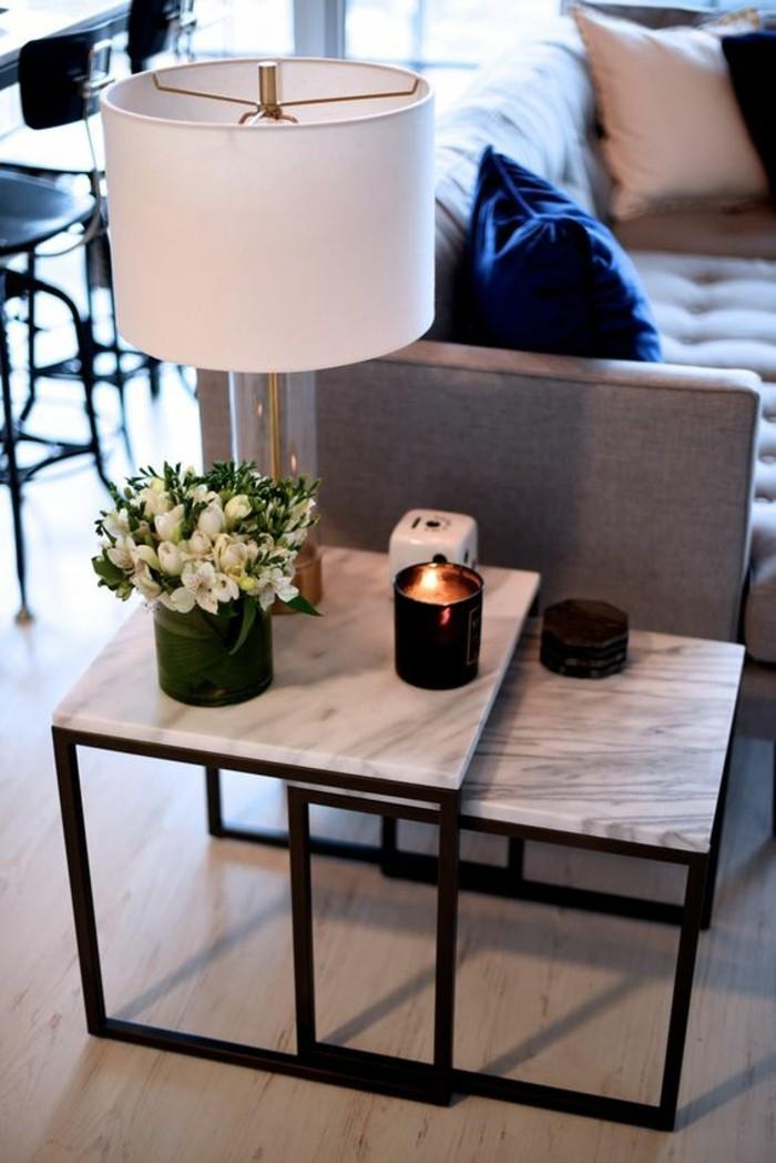 Table basse en marbre  58 ides pour donner du style au