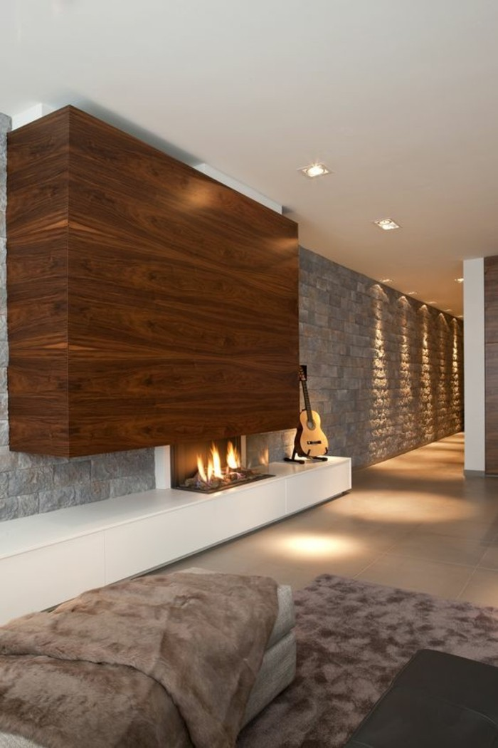 1001 Ides pour transformer une chemine rustique en moderne