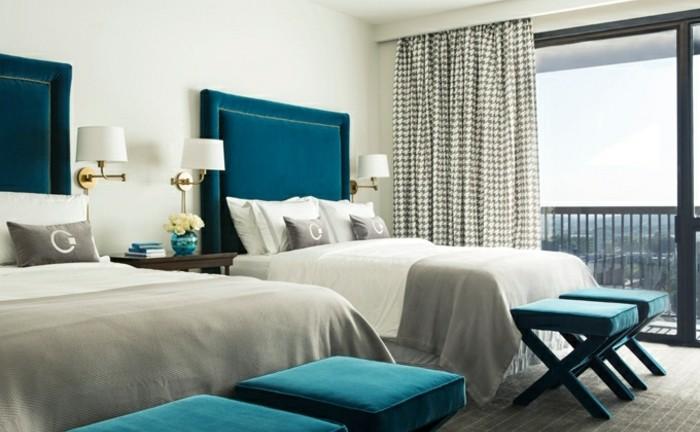 Bleu Pétrole Chambre