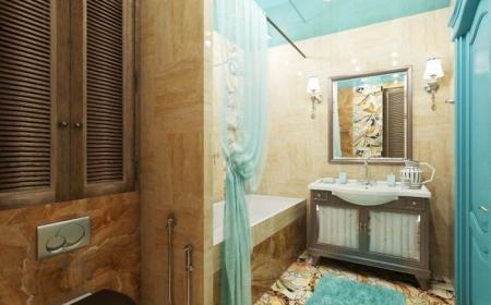 salle de bain turquoise