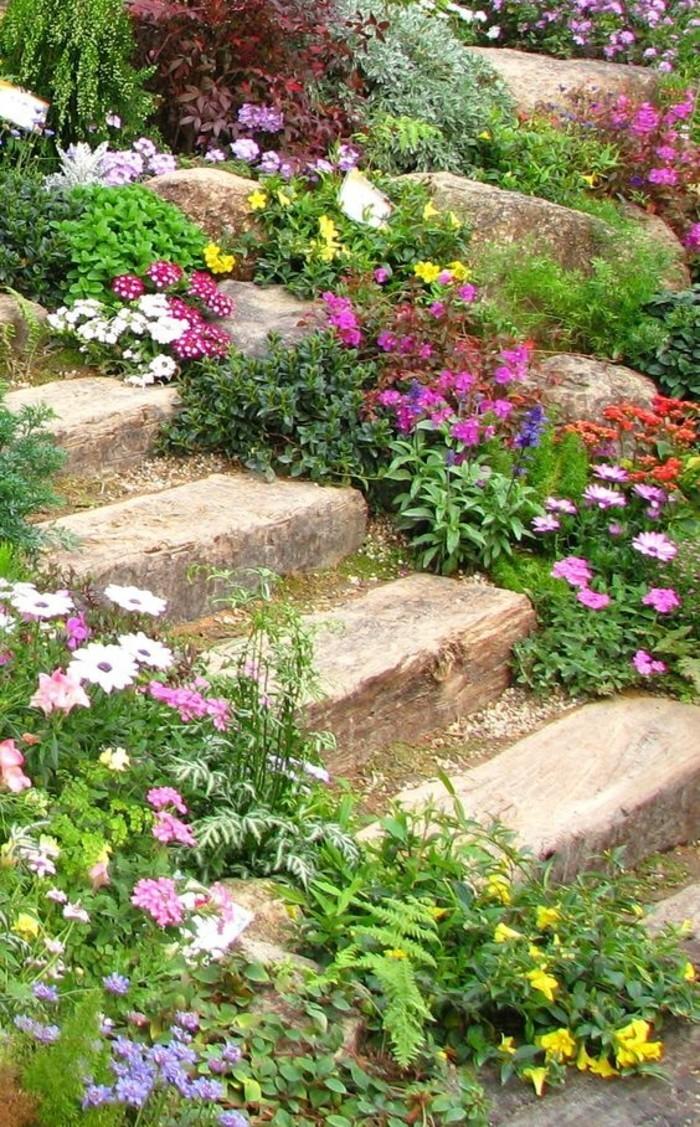 1001 ides et conseils pour amnager une rocaille fleurie charmante