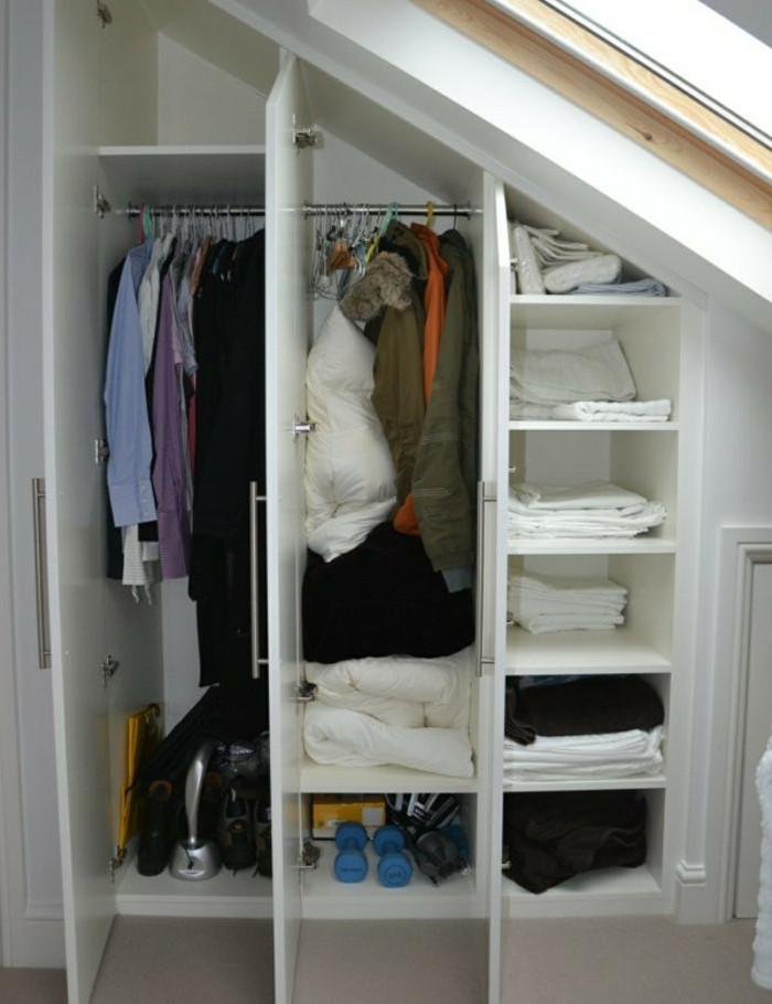 1001 Ide Pour Un Dressing Sous Pente Gain De Place