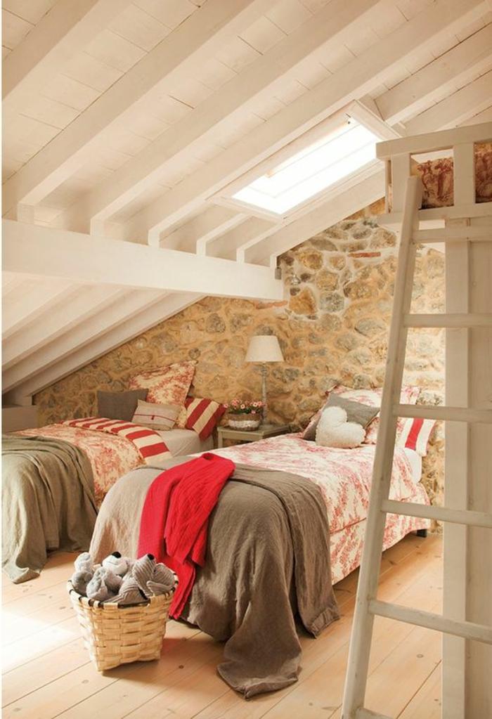 Chambre Lambris Bois - Décoration de maison idées de design d ...
