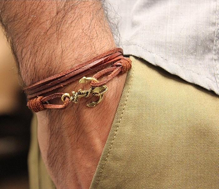 bracelet cuir homme accessoire en vogue