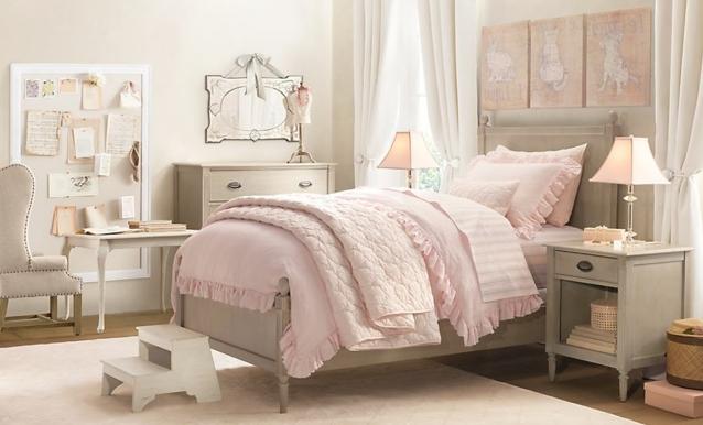 1001 conseils et ides pour une chambre en rose et gris