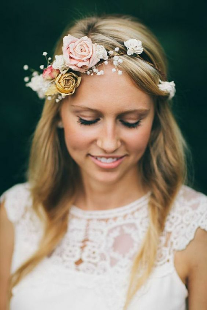 Stoffblumen Hochzeit