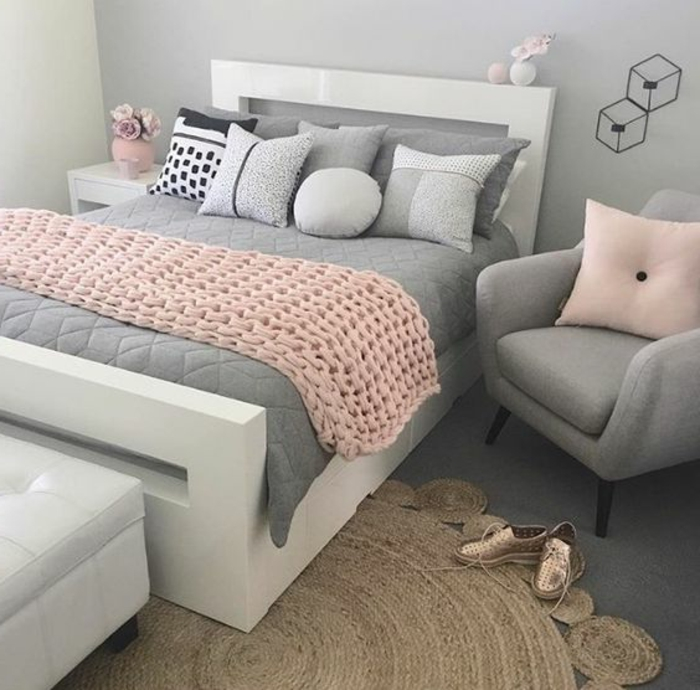 Chambre Fille Rose Pale