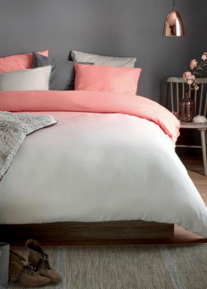 1001 conseils et ides pour une chambre en rose et gris sublime