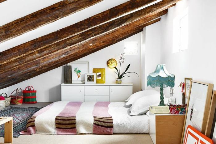 Finest Amenagement Combles Style Bohme Matelas Blanc Taies