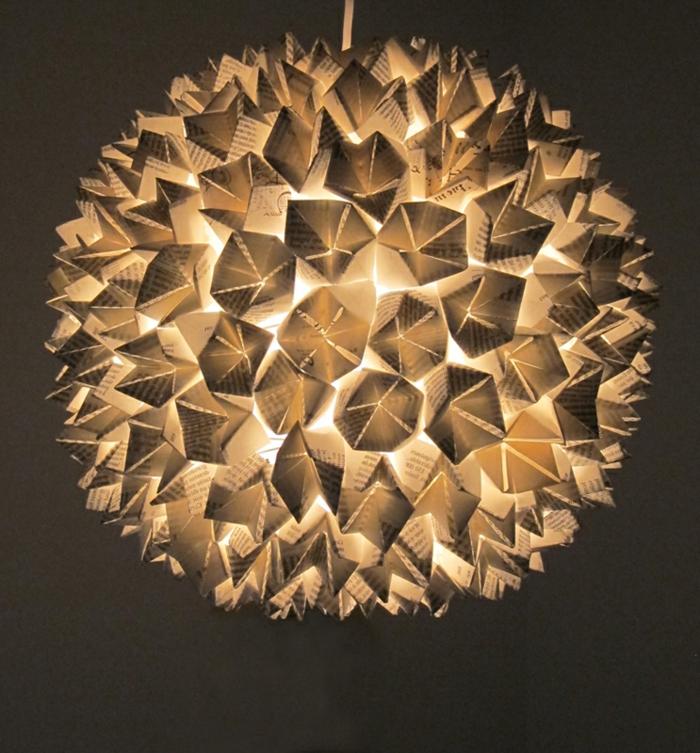 1001 projets diy super cool pour fabriquer un luminaire origami