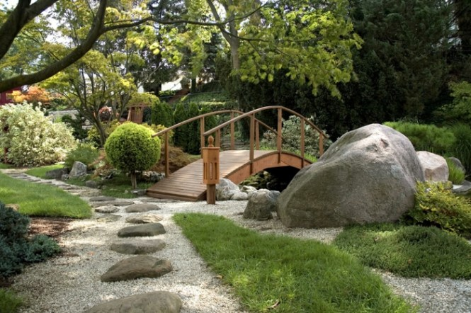Déco Jardin Pe Pont De Bois