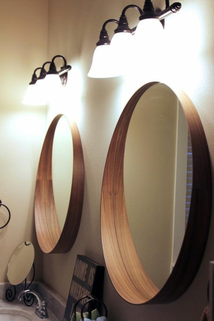1001 Ides pour un miroir salle de bain lumineux  les ambiances styles