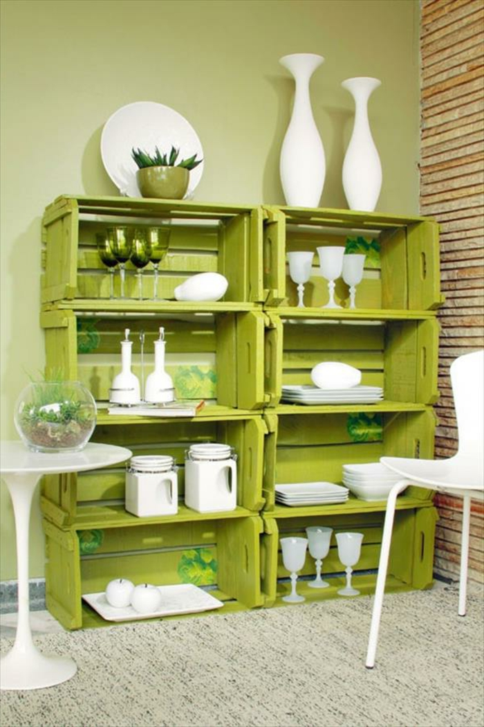 1001 ides et tutos pour fabriquer un meuble en cagette charmant