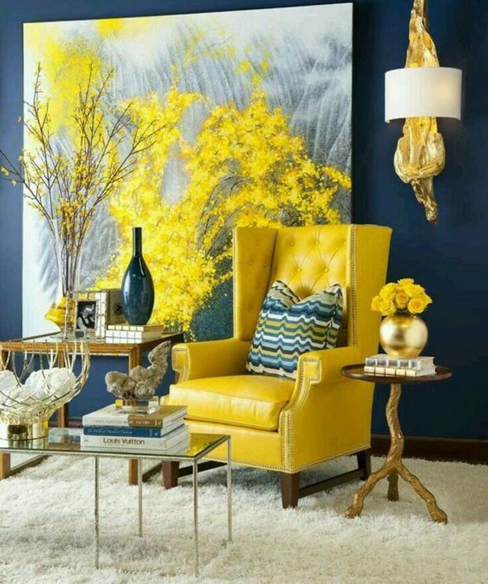 1001  ides crer une dco en bleu et jaune conviviale