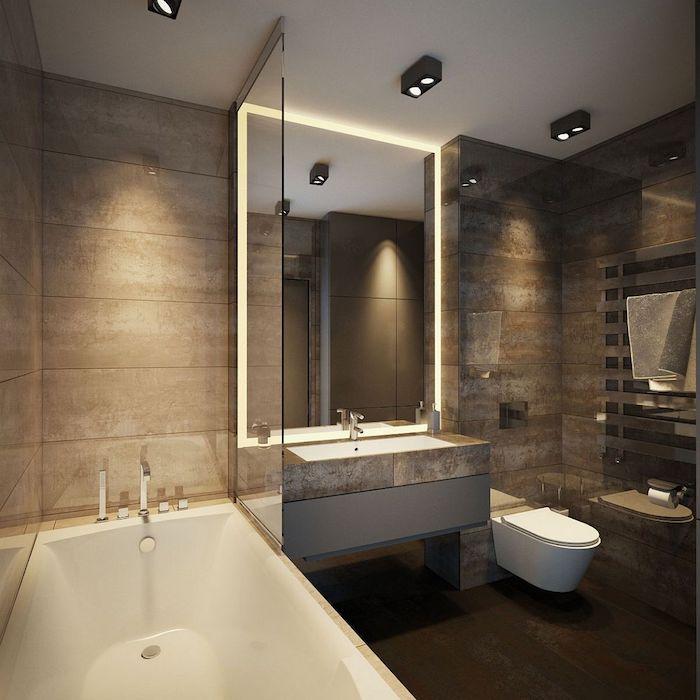 salle de bain moderne marron beige