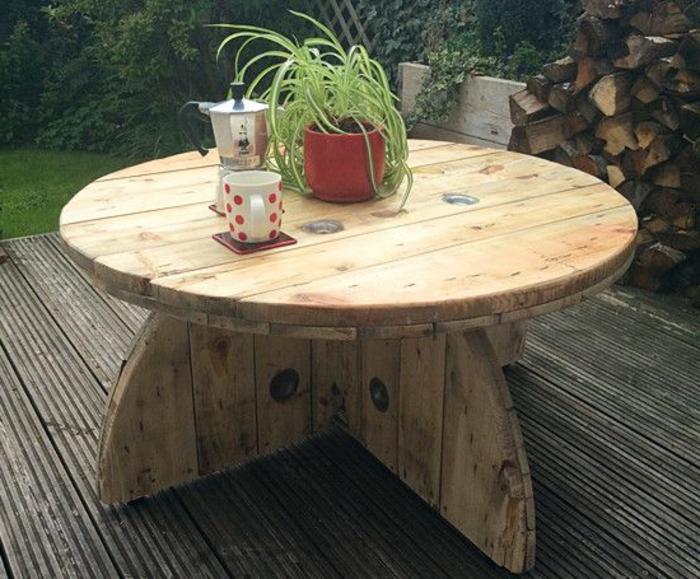 Touret Bois Table De Jardin