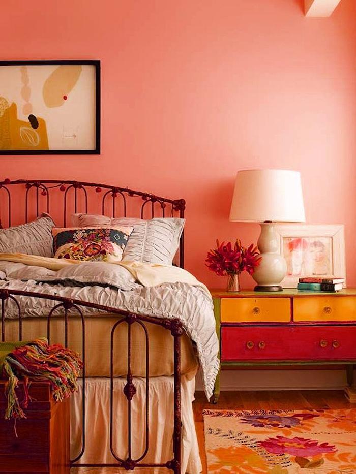 Chambre Orange Gris - Décoration de maison idées de design d ...