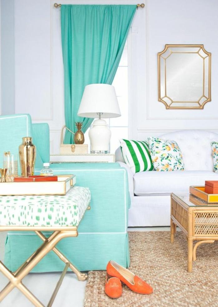 rideau jaune scandinave comment accrocher un tableau au. Black Bedroom Furniture Sets. Home Design Ideas