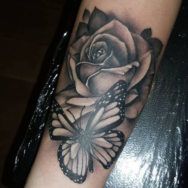 20 Roses Cross Butterfly Tattoos For Women Ideas And Designs