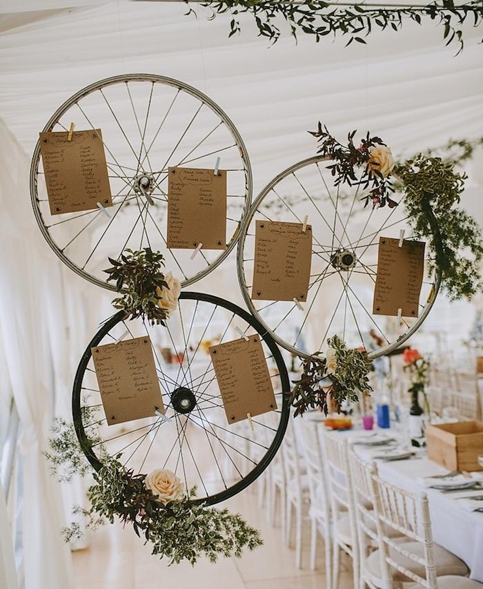 decoration mariage champetre chic plan de table original